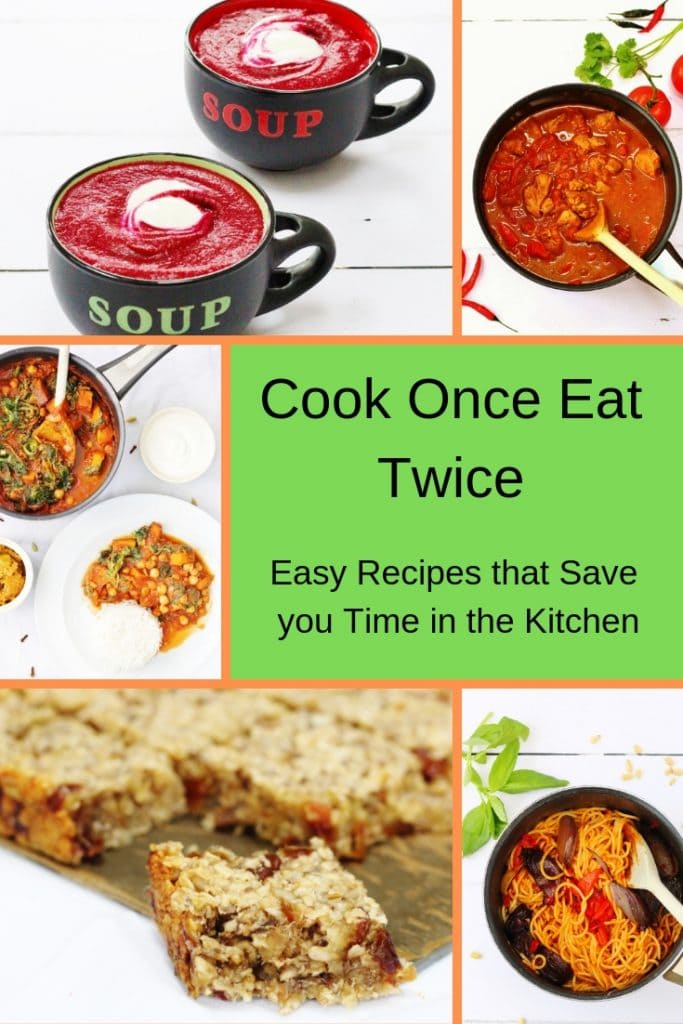 Cook once eat twice recipe collection pin image
