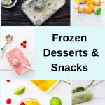 collage pin of frozen desserts and snacks
