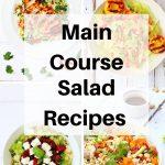 Main course salad recipes pin image