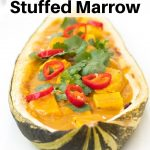 Baked marrow stuffed with curry
