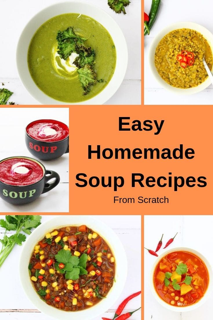 pin of easy homemade soup recipes