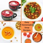 Collage of easy homemade soup recipes