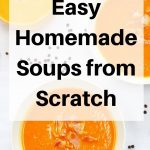 homemade soups from scratch pin image