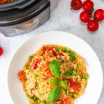 Chorizo risotto from above