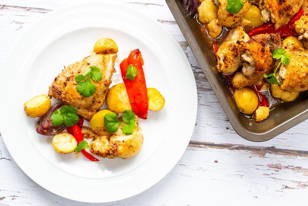 baked ras el hanout chicken