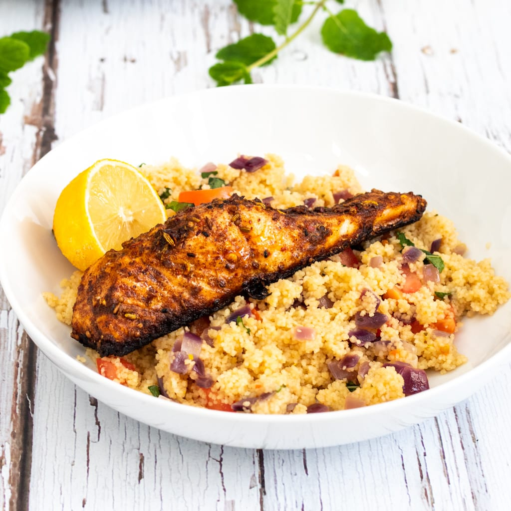 Moroccan spiced salmon with ras el hanout