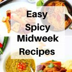 easy spicy midweek recipe pin image