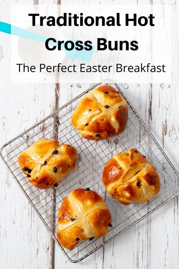 Hot cross buns pin image