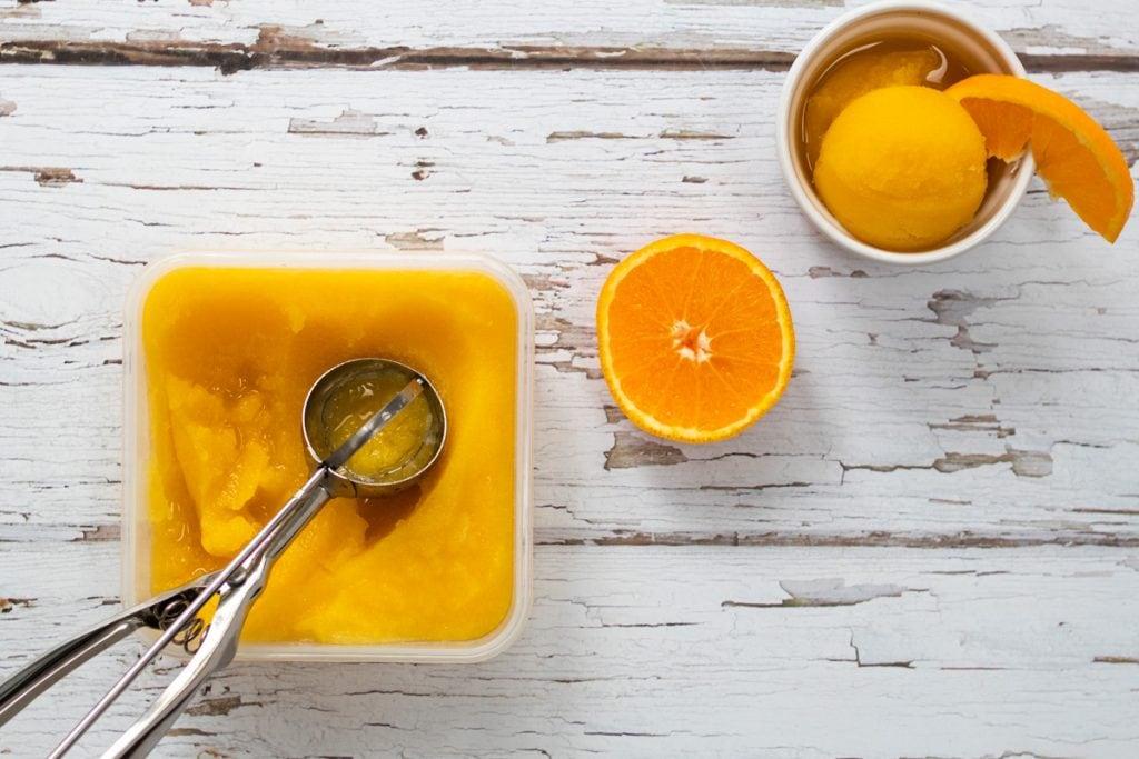 ginger and orange sorbet