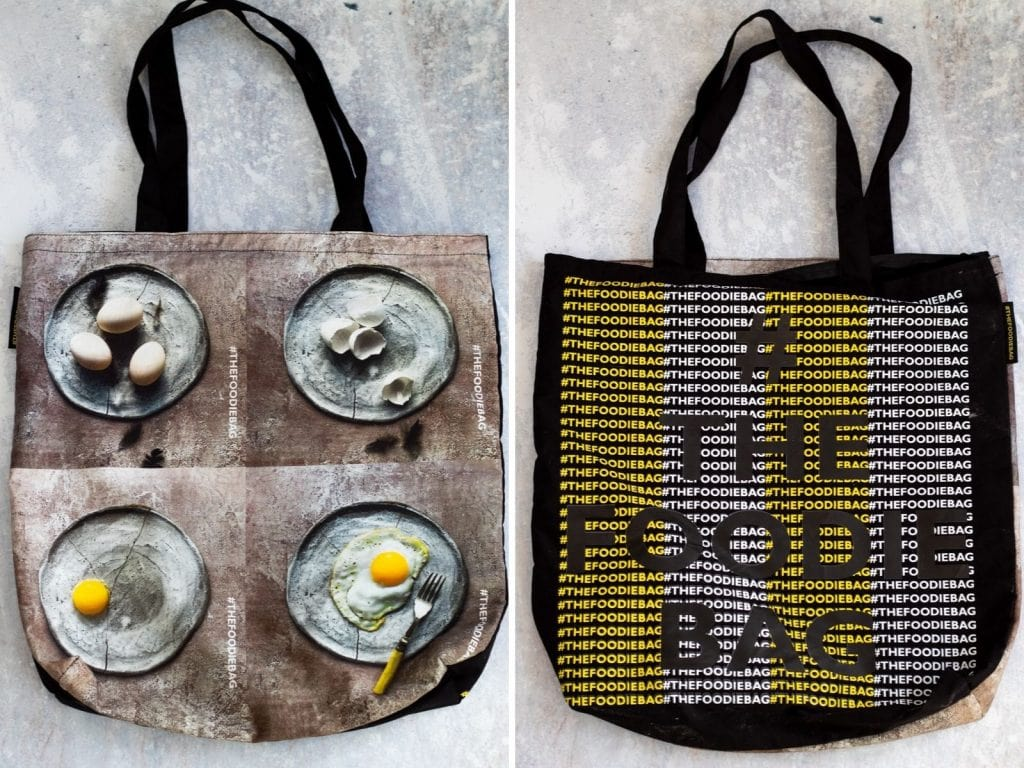 Both sides of the Foodie Bag