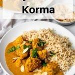 Easy chicken korma pin image