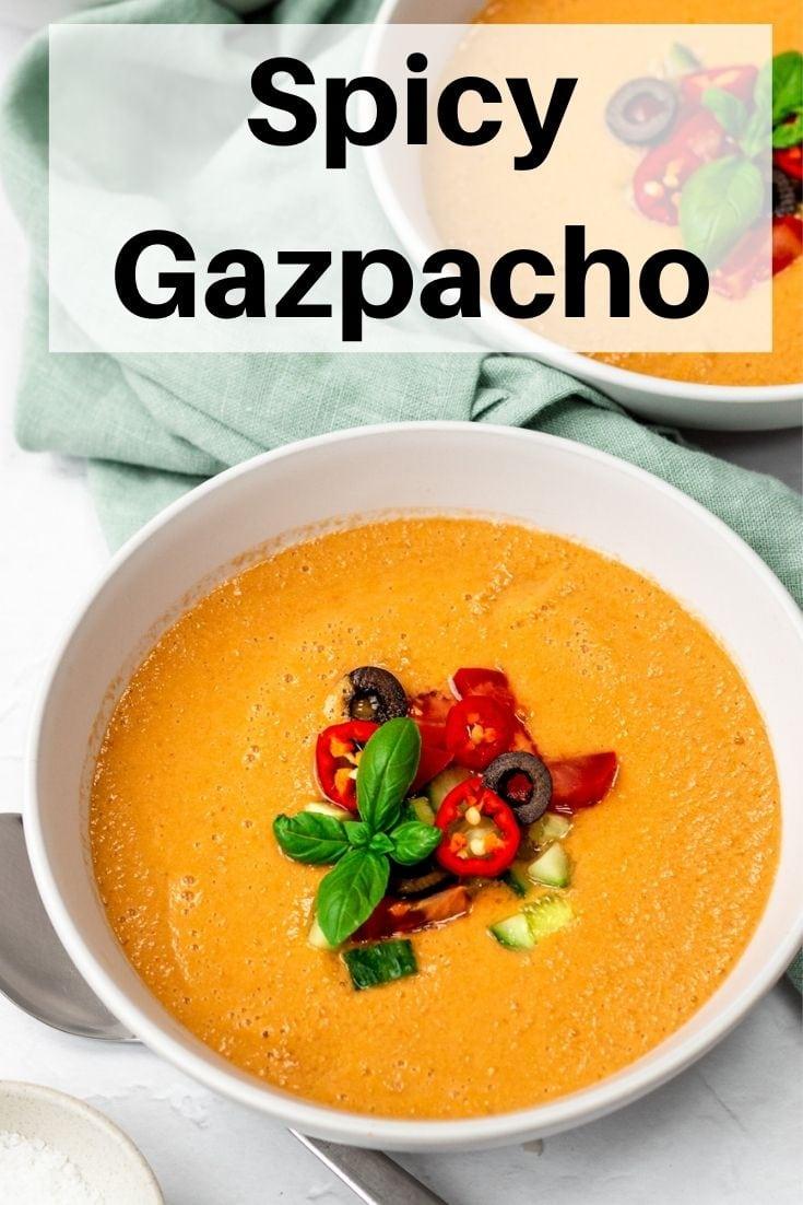 Spicy gazpacho pin image
