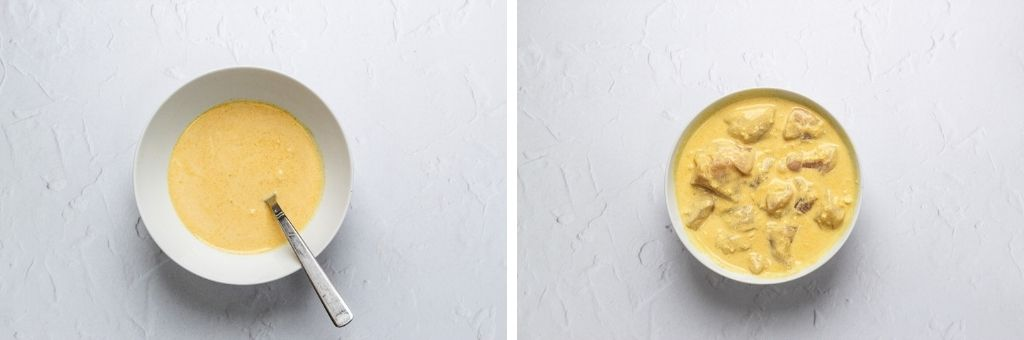 Biryani marinade with and without chicken