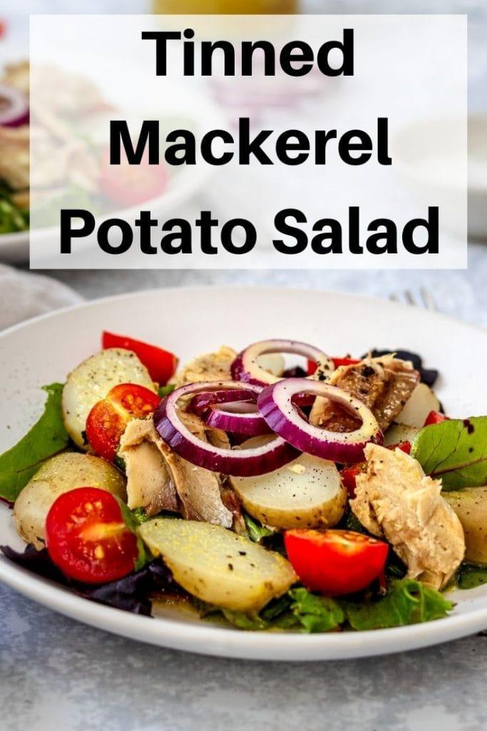Tinned mackerel salad pin image