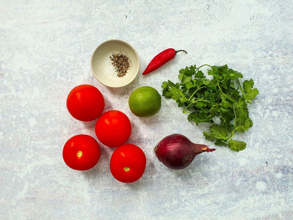 Ingredients for pico de gallo