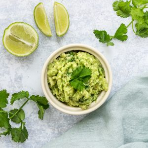 bowl of classic guacamole